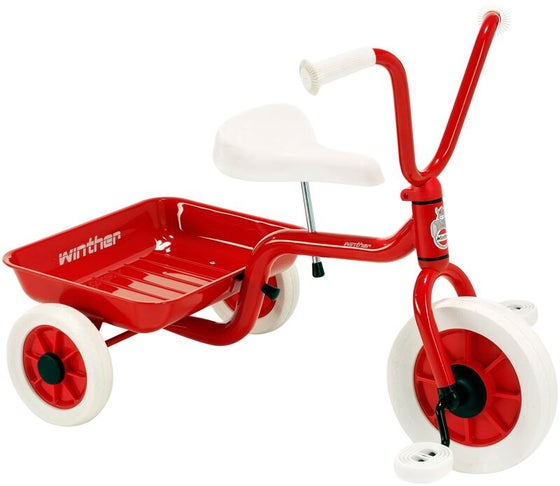 Image of Red Tricycle With Tipping Tray By Winther