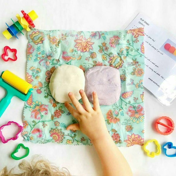 Image of Beeswax Wrap with Playdough / Nature dough