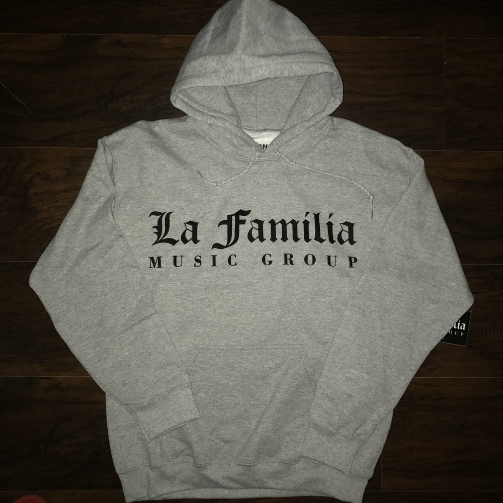 Image of LA FAMILIA MUSIC GROUP WOLF GREY HOODIE