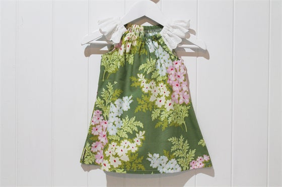 Image of Flutter Sleeve Dress - Sage Floral