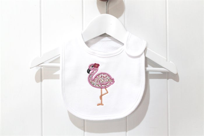 Image of Liberty Flamingo Appliqued Bib