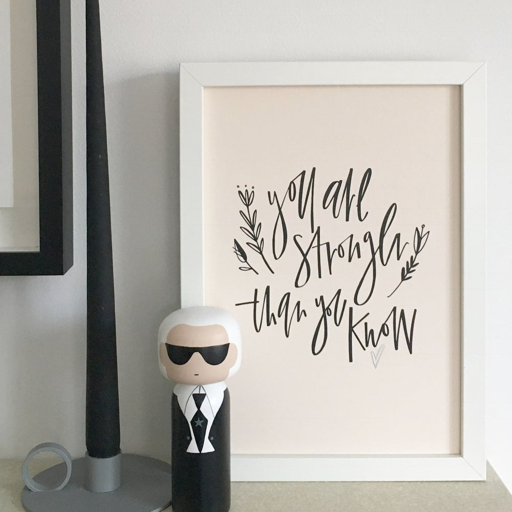 Image of Stronger A4 print