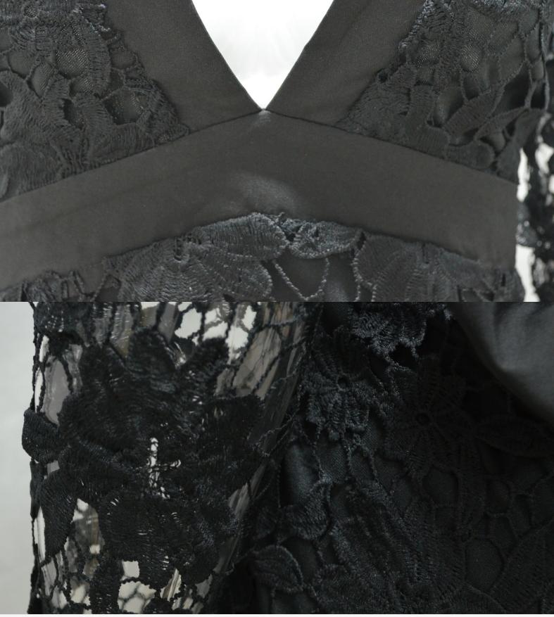 Image of Sexy deep v-back lace lace dress