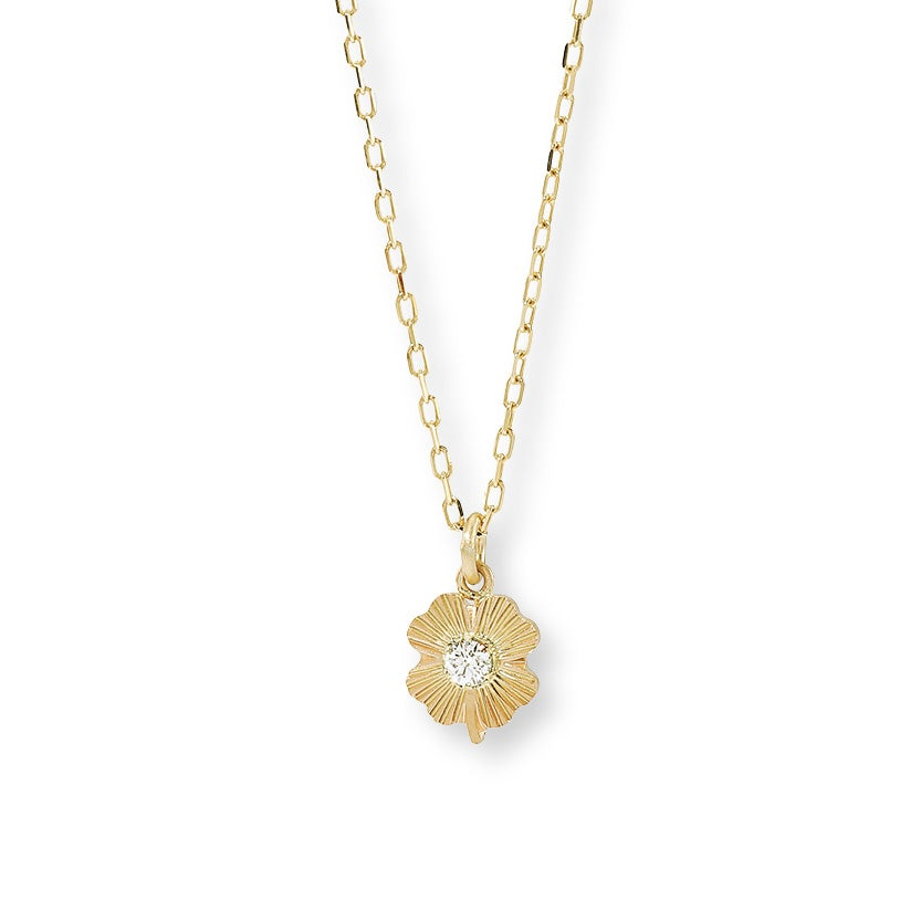 Image of Lucky Diamond Leaf / Necklace