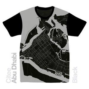 Image of Abu Dhabi map t-shirt
