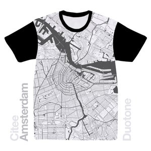 Image of Amsterdam map t-shirt
