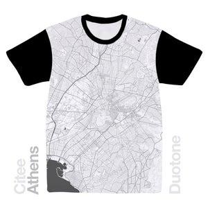 Image of Athens map t-shirt
