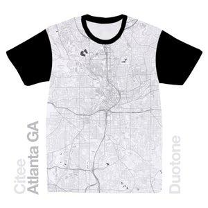 Image of Atlanta GA map t-shirt