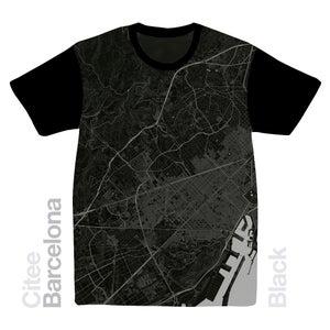 Image of Barcelona map t-shirt