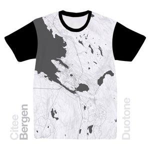 Image of Bergen map t-shirt