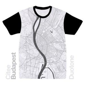 Image of Budapest map t-shirt