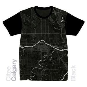 Image of Calgary map t-shirt