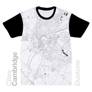 Image of Cambridge map t-shirt