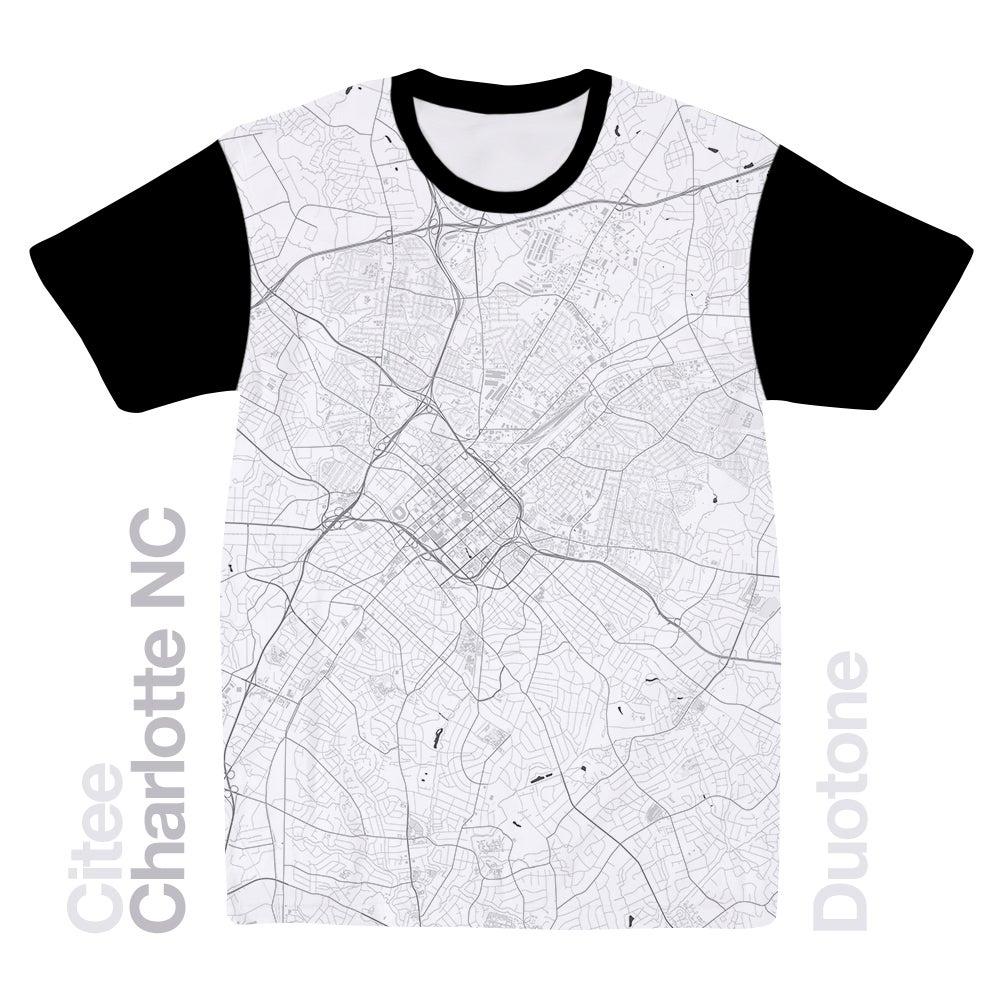 Citee Fashion Charlotte NC Map Tshirt - Ncmap