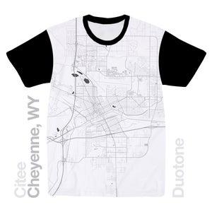 Image of Cheyenne WY map t-shirt