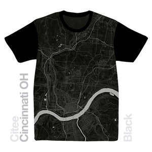 Image of Cincinnati OH map t-shirt