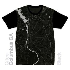 Image of Columbus GA map t-shirt