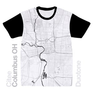 Image of Columbus OH map t-shirt