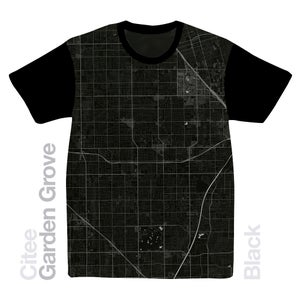 Image of Garden Grove CA map t-shirt