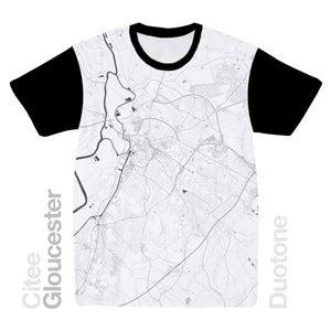 Image of Gloucester map t-shirt