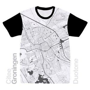Image of Groningen map t-shirt