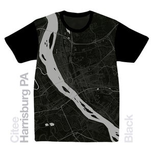 Image of Harrisburg PA map t-shirt