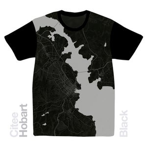Image of Hobart map t-shirt