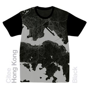 Image of Hong Kong Island map t-shirt