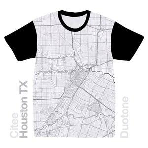 Image of Houston TX map t-shirt