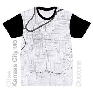 Image of Kansas City MO map t-shirt