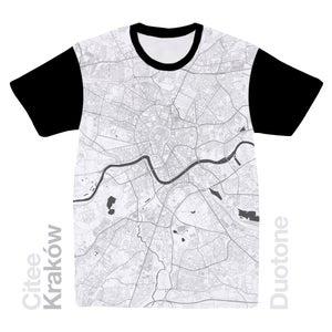Image of Kraków map t-shirt