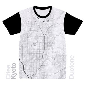 Image of Kyoto map t-shirt