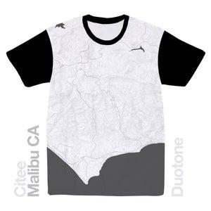 Image of Malibu CA map t-shirt