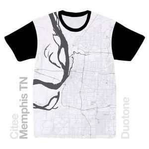 Image of Memphis TN map t-shirt