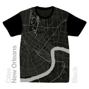 Image of New Orleans LA map t-shirt