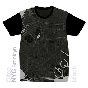 Image of NYC Brooklyn map t-shirt