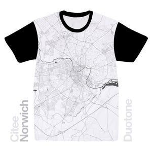Image of Norwich map t-shirt