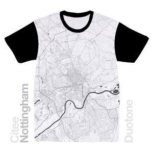 Image of Nottingham map t-shirt