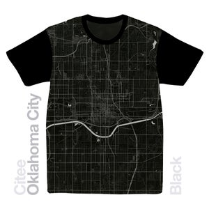 Image of Oklahoma City OK map t-shirt