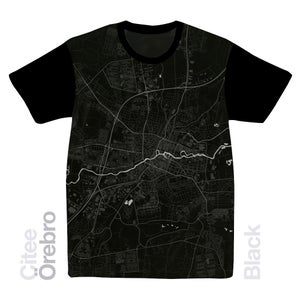 Image of Örebro map t-shirt