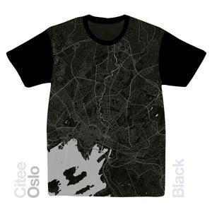 Image of Oslo map t-shirt