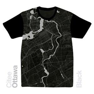 Image of Ottawa map t-shirt