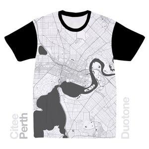 Image of Perth map t-shirt
