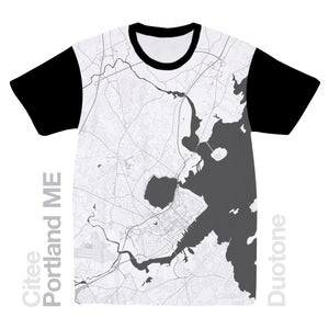 Image of Portland ME map t-shirt