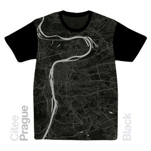 Image of Prague map t-shirt