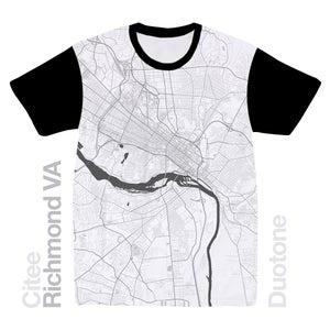 Image of Richmond VA map t-shirt