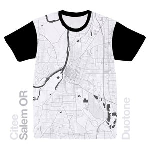 Image of Salem OR map t-shirt