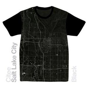 Image of Salt Lake City UT map t-shirt