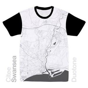 Image of Swansea map t-shirt