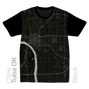 Image of Tulsa OK map t-shirt